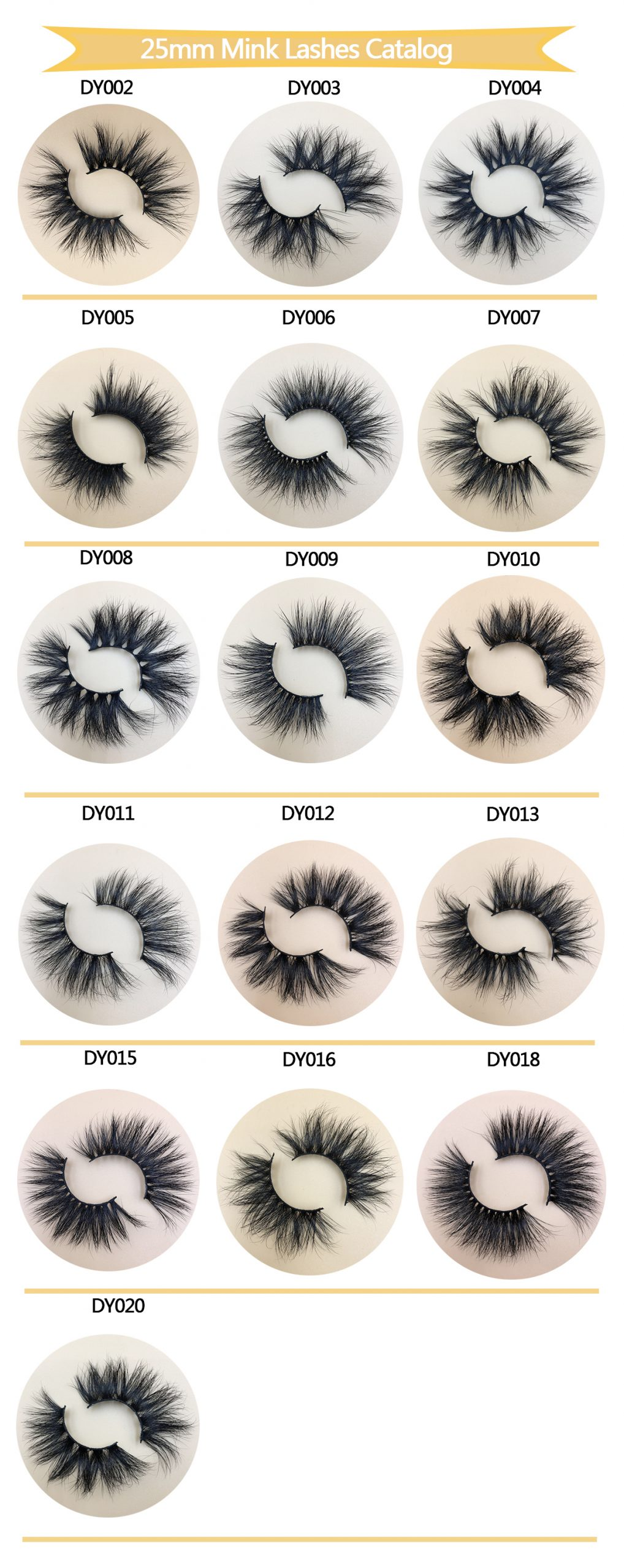 DY Series 25MM Mink Lashes