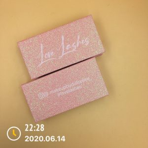 Pink and Glitter Box Printing Logo