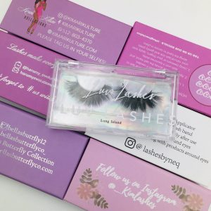 lashes packaging.