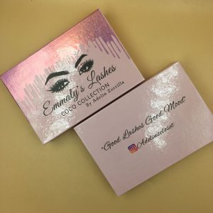 Best Wholesale Holographic THREE PAIRS Lashes Box Printing Logo
