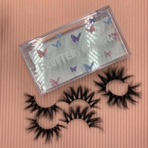 Best Wholesale Unique Package Printing Logo With 5D 25mm Mink Eyelashes