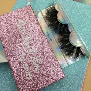 25mm Mink Lashes With Glitter Box